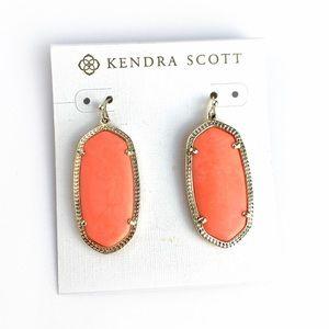 Kendra Scott Coral Peach Elle Earrings